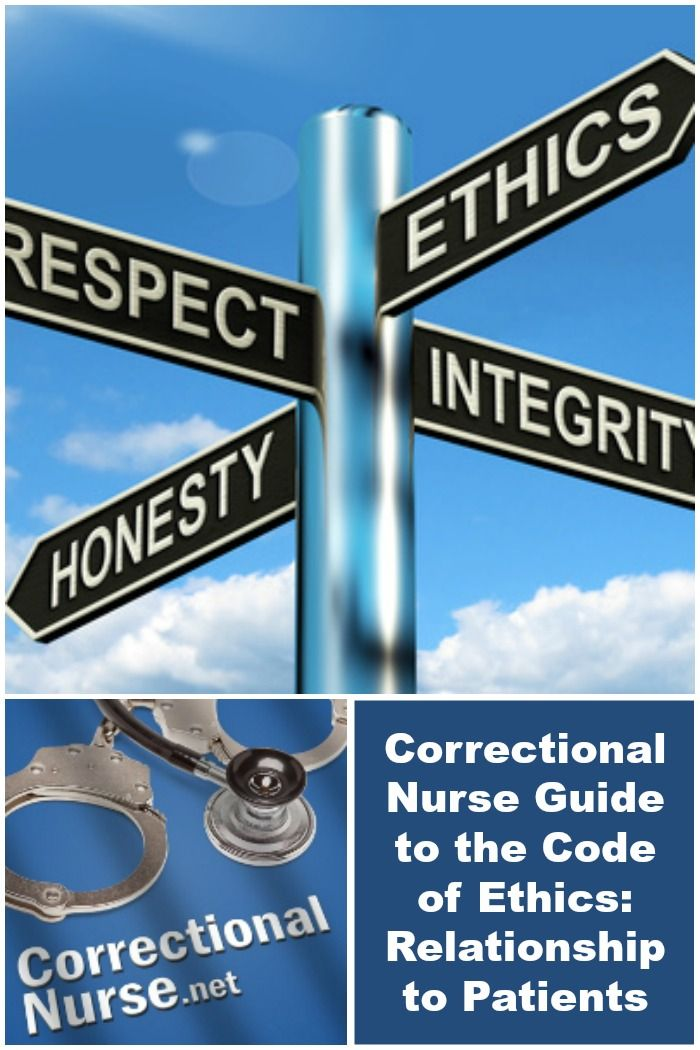 Correctional Nurse Guide to the Code of Ethics Relationship to - correctional nurse sample resume