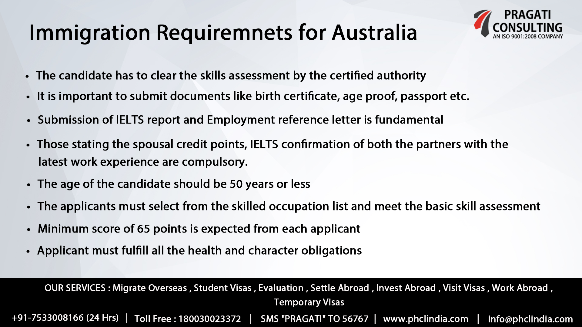 Immigration Requirements For  Australia