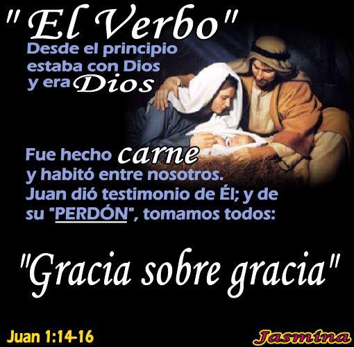 El verbo fue hecho carne y se llama Jesucristo.