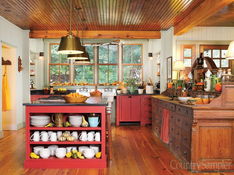 """Adventures In Decorating Our 2015 Fall Kitchen: From Our September 2015 Issue: In """"Getting Away From It"""