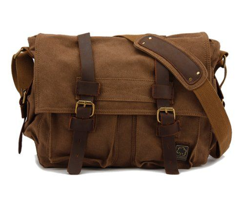 Donner® British Style Retro Mens Womens Canvas + Leather Messenger Traval Shoulder Bag Fits 15 Inch Laptop (Coffee) Kattee,http://www.amazon.com/dp/B00DS2QSW6/ref=cm_sw_r_pi_dp_OLXYsb07XKFDG3MG