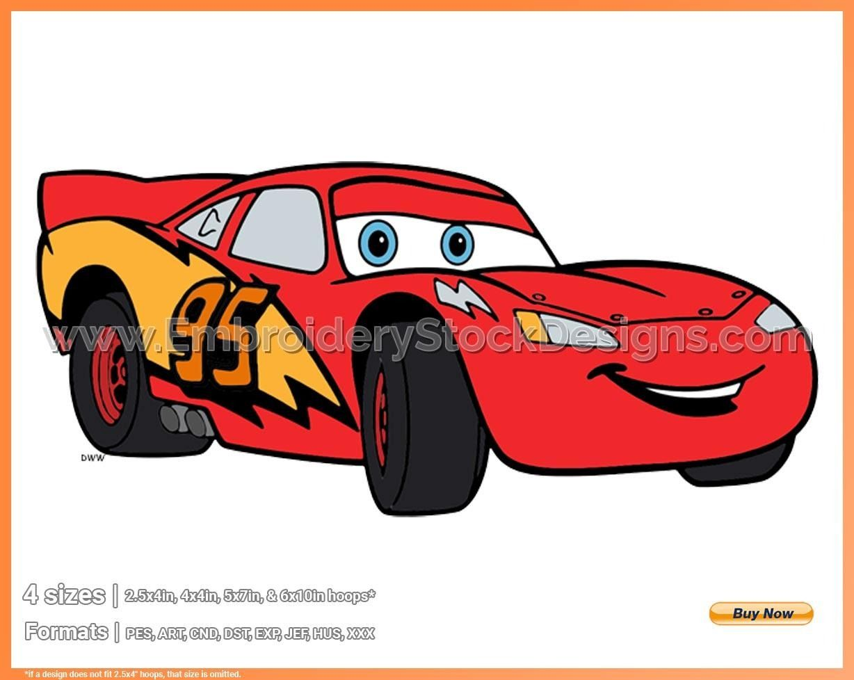 Lightning Mcqueen 4 Disney Pixar S Cars Disney Movie Characters In 4 Sizes Embroidery Movad005310 Embroidery Stock Designs Disney Movie Characters Disney Cars Lightning Mcqueen
