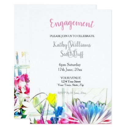 Engagement Invite Templates Beauteous 103250 Floral Engagement Invitation  Floral Invitation Engagement .