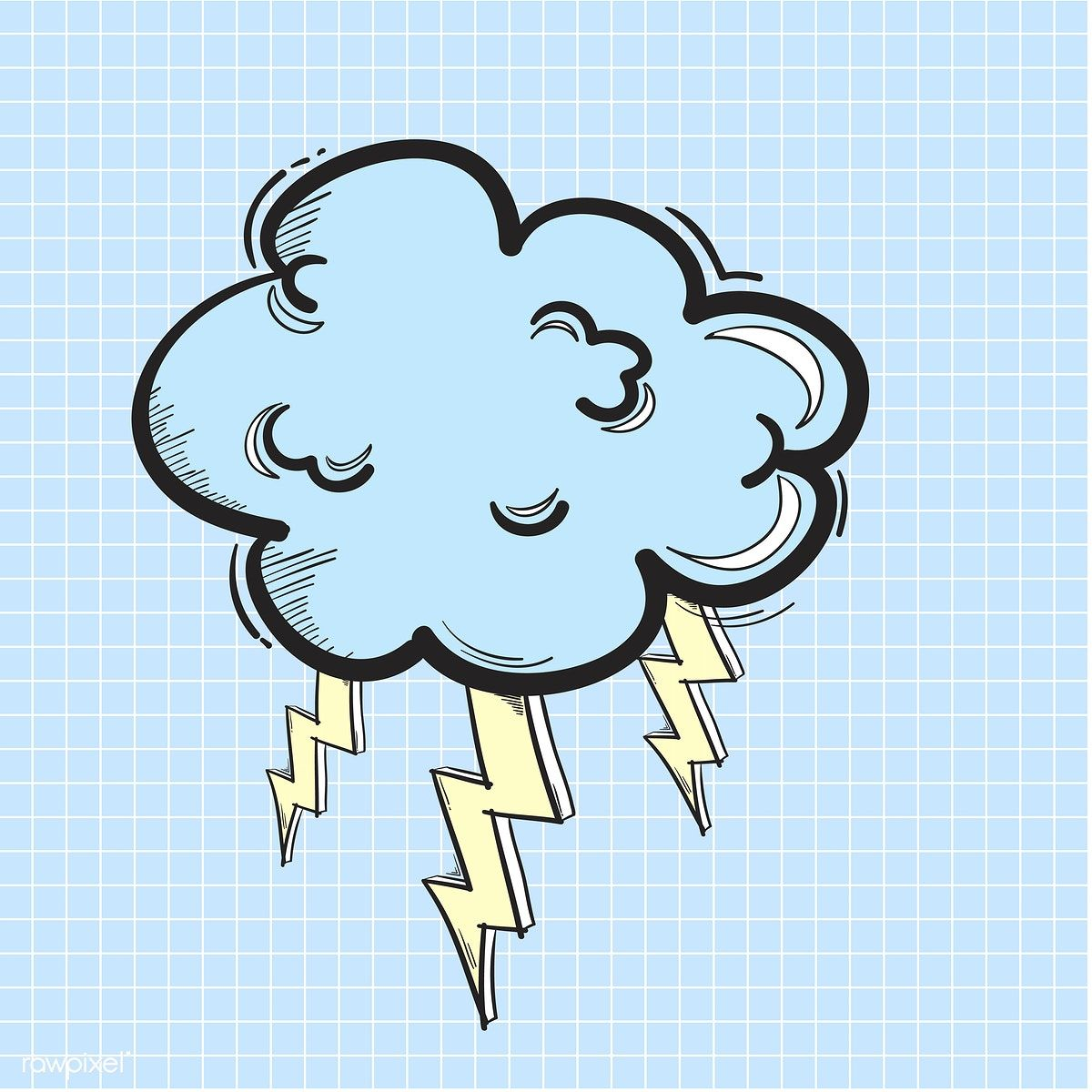 Vector Of Thunder Cloud Icon Free Image By Rawpixel Com Cloud Icon Thundercloud Hipster Doodles
