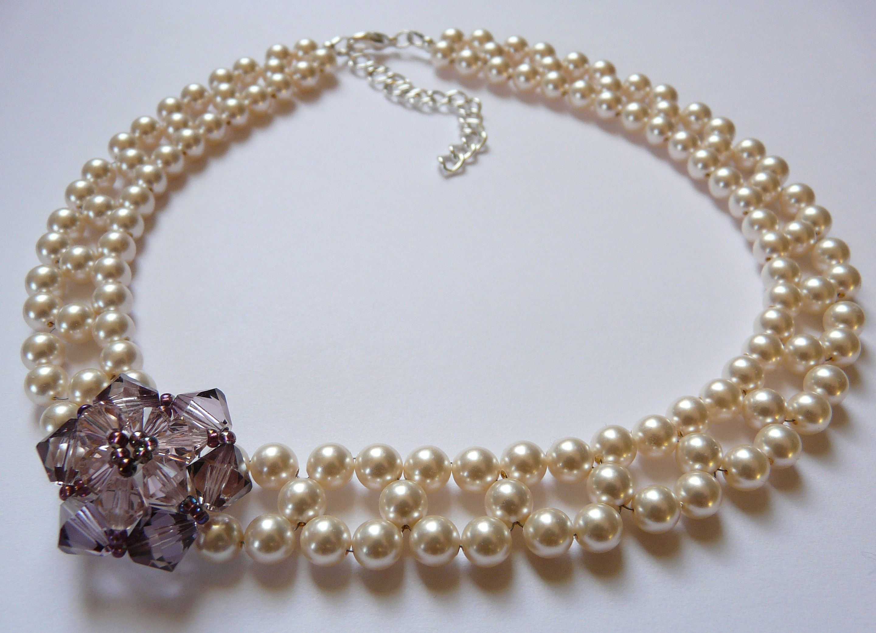 Hand made by virtually vintage mad men style beaded choker with