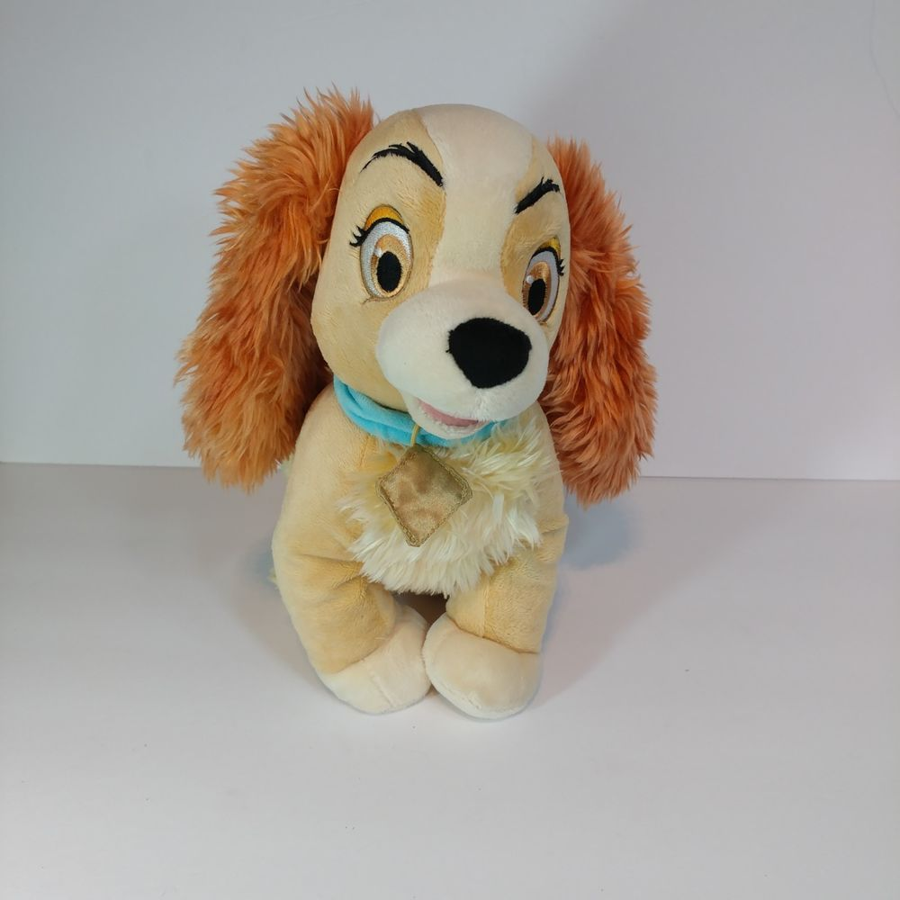 Disney Store Exclusive Lady And The Tramp Lady Plush Blue Collar