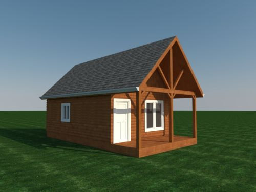 Cabin Plans With Loft DIY Cottage Guest House Building Plan