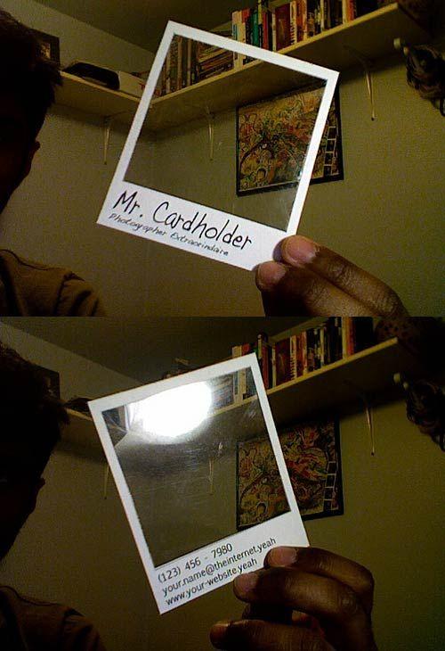 Polaroid Business Card Template design u2022 stationary   branding - polaroid template