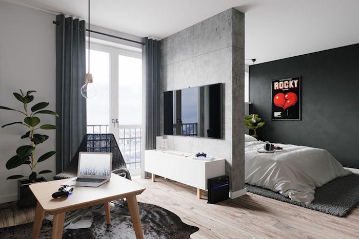 Jugendzimmer Grau