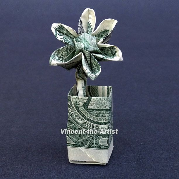 Money origami flower memes gifts made from money pinterest money origami flower mightylinksfo