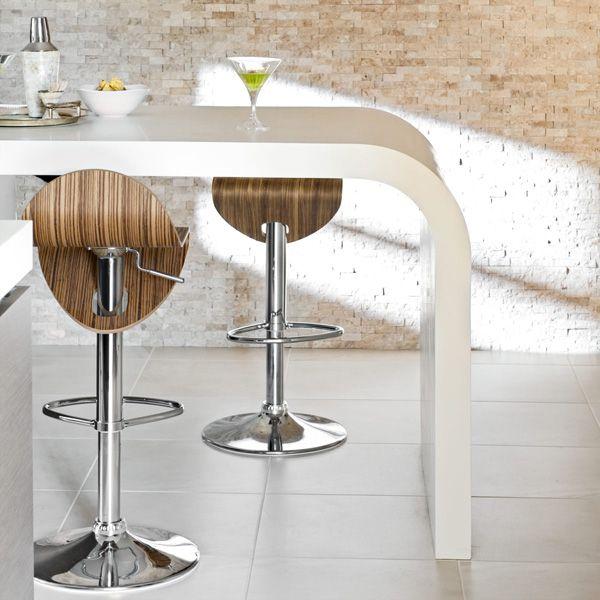 glänzende oberfläche arbeitsplatte essecke weiß farben barhocker - essecken für küchen