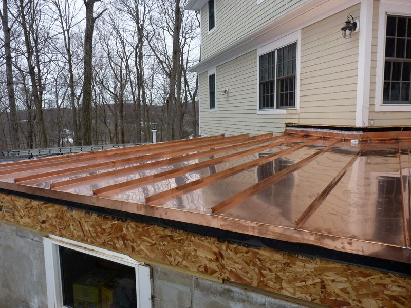 Copper Clad Standing Seam Steel Roof Panels Home