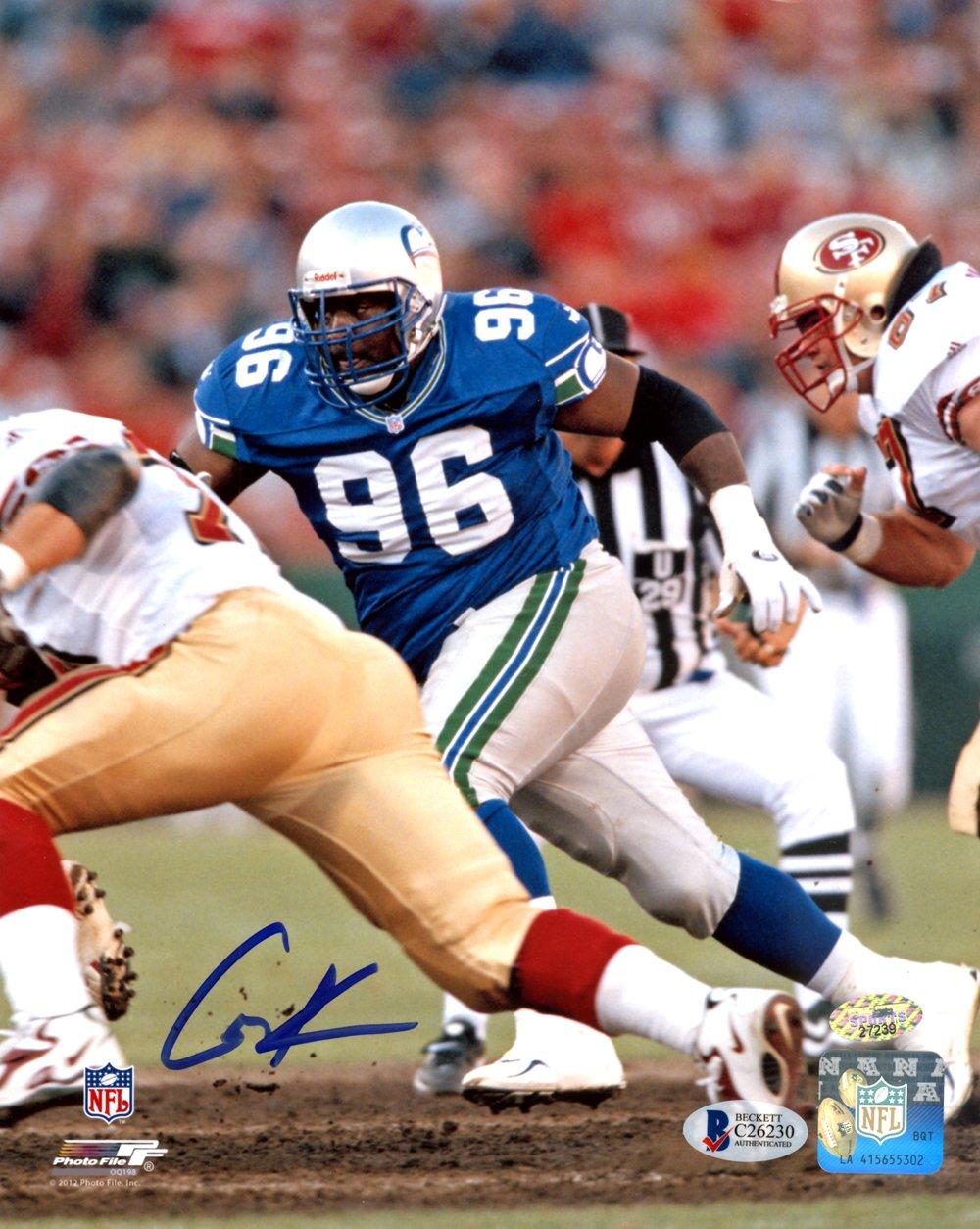 Cortez Kennedy Autographed 8x10 Photo Seattle Seahawks