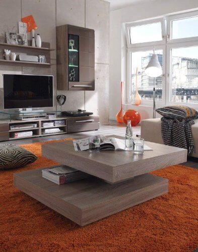 Presto mobilia 11048 Couchtisch Gabor 70 78x78x34 cm Sonoma Eiche - wohnzimmertisch sonoma eiche