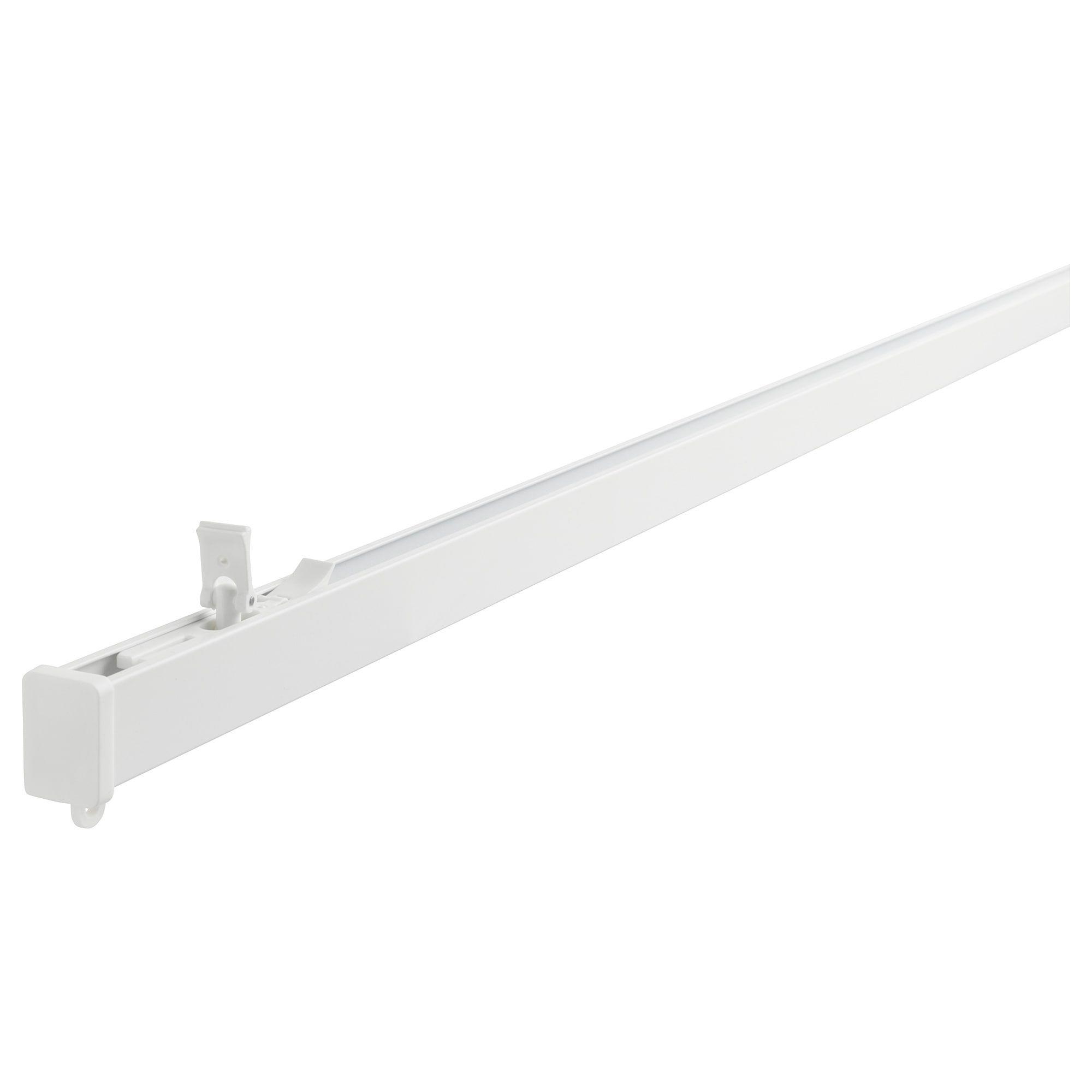 Ikea Vidga White Single Track Rail Ikea Curtain Track System