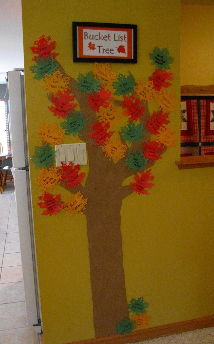 I saw the Pinterest - a Thankful Tree and a Fall Bucket List ... #fallbucketlist I saw the Pinterest - a Thankful Tree and a Fall Bucket List ... #fallbucketlist