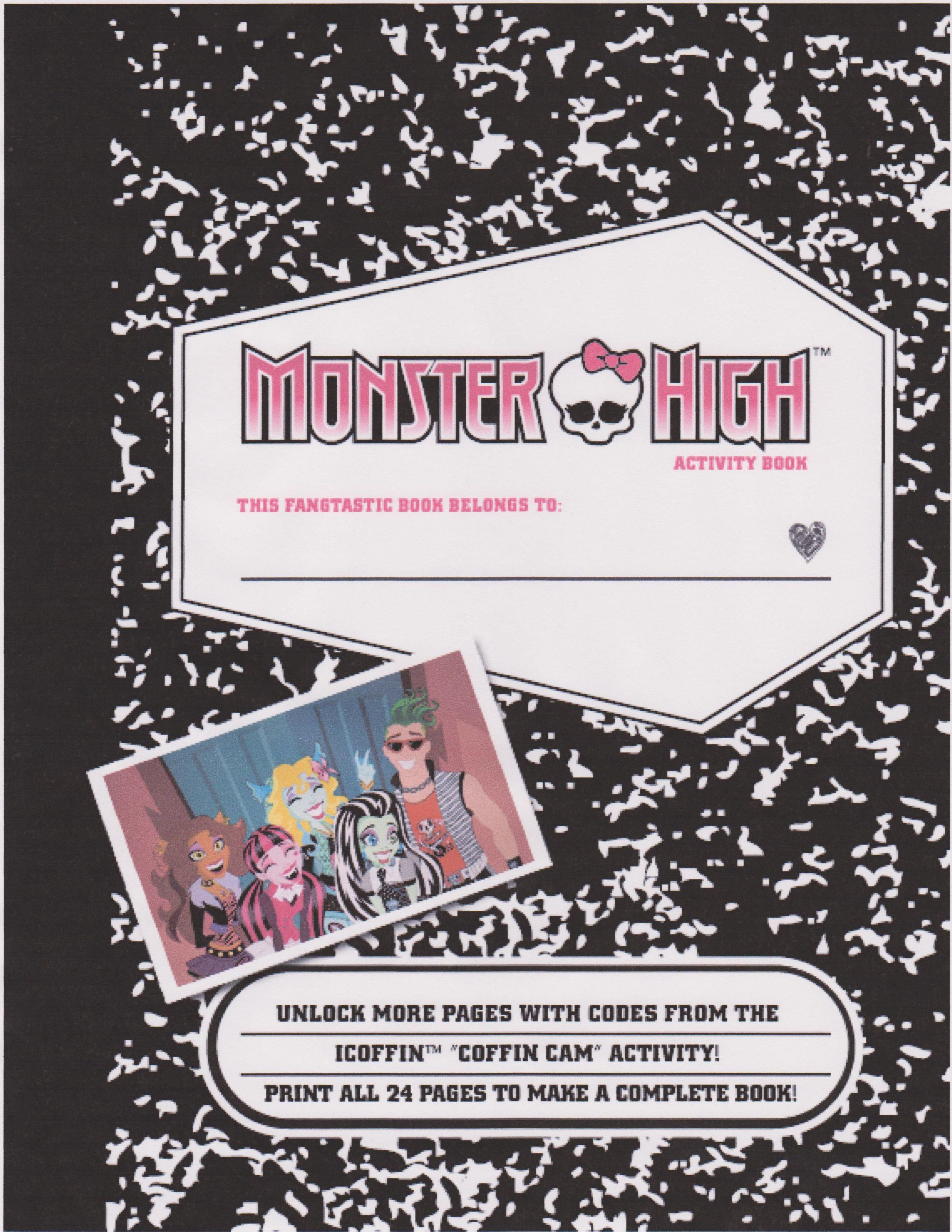 FREE Monster HIgh Printables, awesome site with lots of stuff to ...