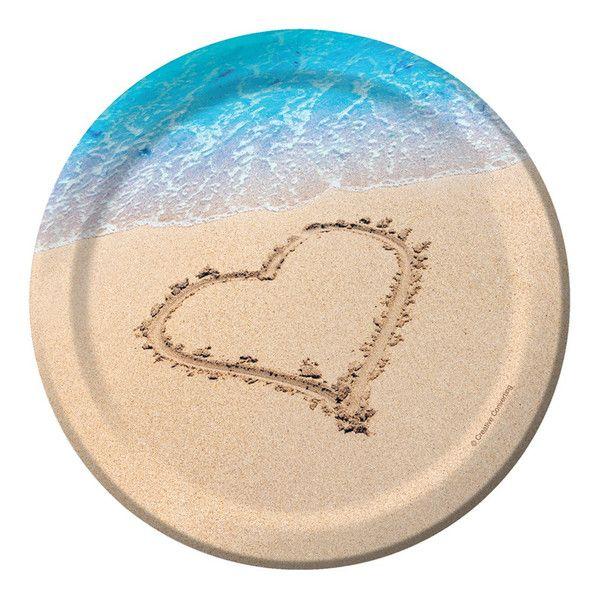 7 Inch Lunch Plates Beach Love Case Of 96 Beach Love Wedding