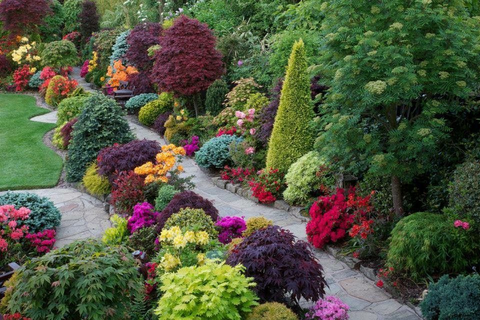 The Four Seasons garden, owned by self taught gardeners