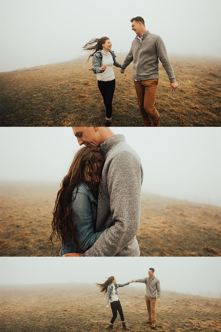 Max Patch Foggy Mountain Couple Session Couple