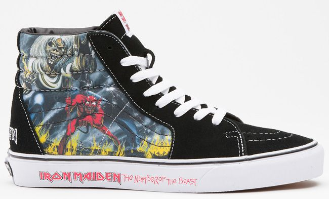 "Iron Maiden ""The Number of the Beast"" x Vans Sk8 Hi & Slip"