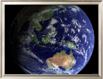 Full Earth From Space Showing Australia Photographic Print Stocktrek Images Art Com Earth From Space Earth Day Activities Space Pictures