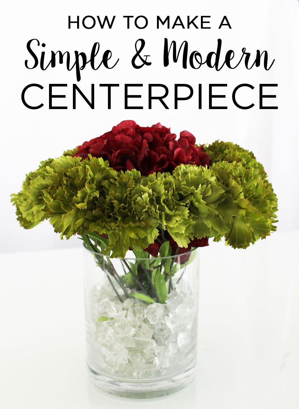Create Simple And Modern Centerpieces With Silk Flowers Glass Vases