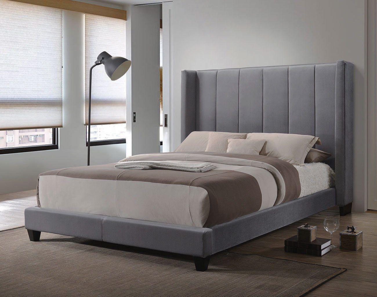 Hudson Upholstered Bed Upholstered beds, Furniture, Bed