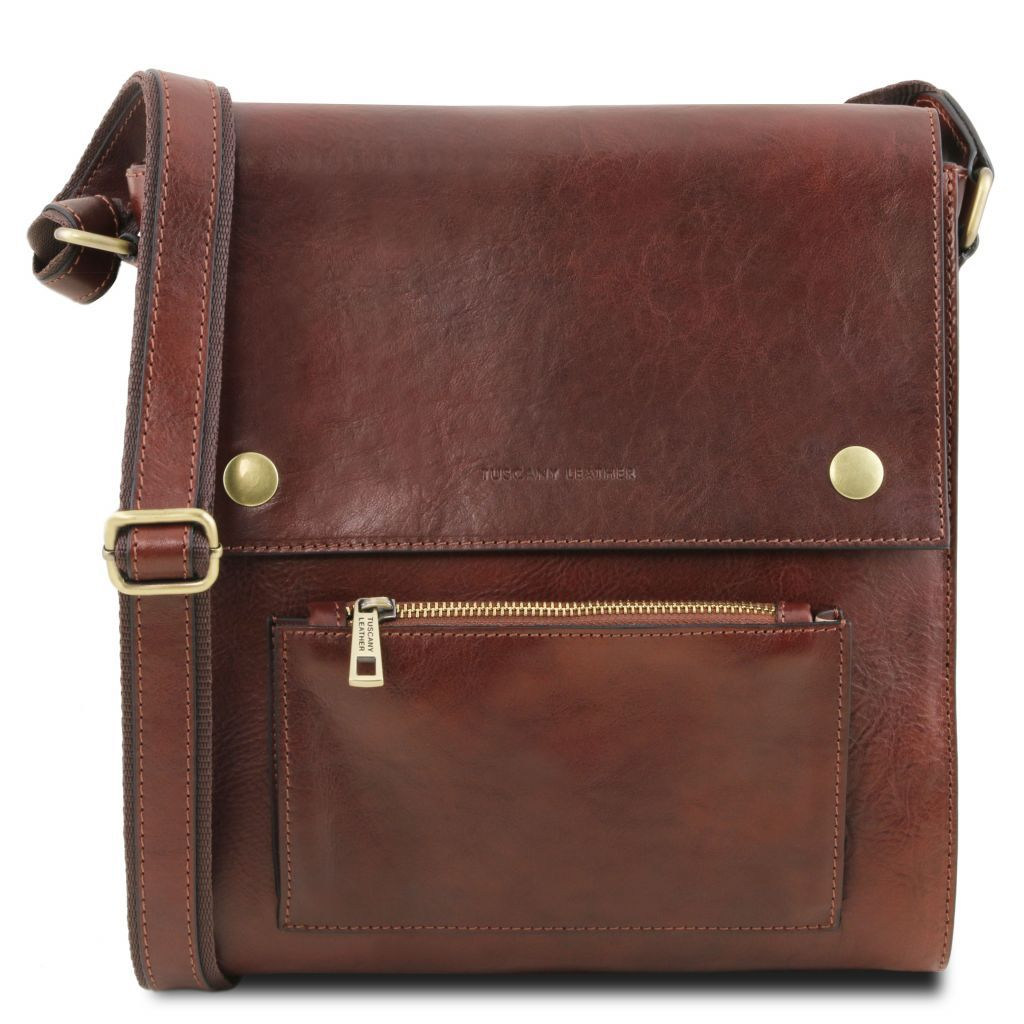 ba5e5146c1 TL Postman Leather Messenger bag Brown TL141288