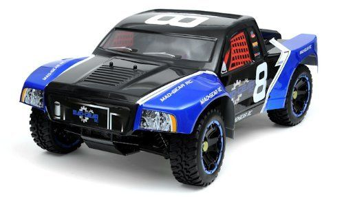 """remote control radio control rc Mad Gear 1/5th Giant Scale Dallas 5E Brushless Off-Road SC Truck w/ 2.4Ghz Radio 100% RTR COLOR VARIES SENT AT RANDOM - INCLUDES CHARGER by MAD GEAR. $1499.99. High Quality Radio Gear A high quality super narrowband 2.4Ghz new advanced """"pistol grip"""" radio set is included for excellent range and precise control over the steering, throttle and braking. Perfect for both beginners and advanced drivers.  Everything is assembled and tuned for you b..."""