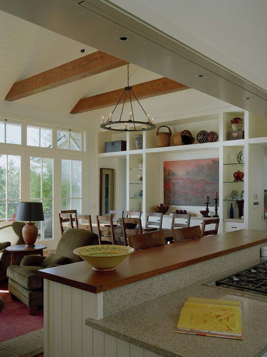 Kitchen Peninsula Open To Living Room Novocom Top