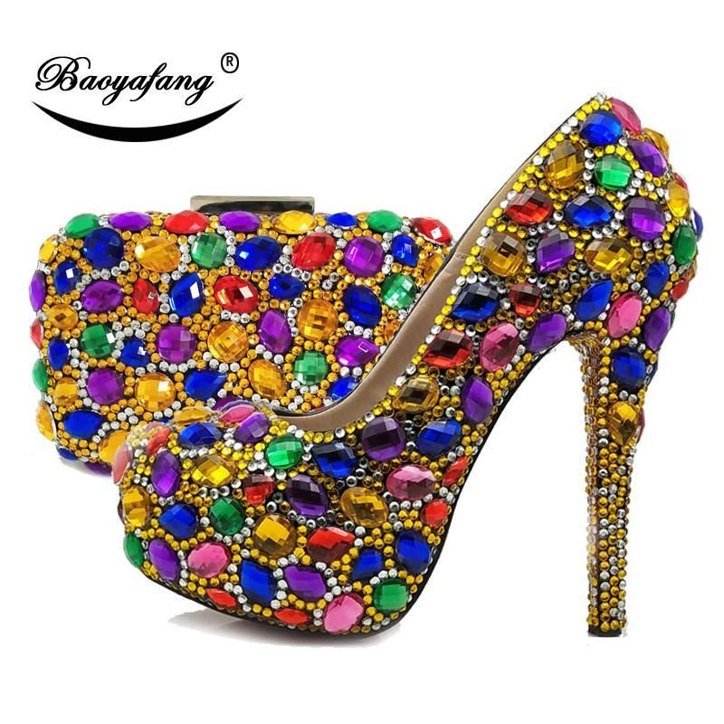 9982cd7f0f Multicolored Womens Wedding Shoes And Bag Set in 2019 | FASHION ...