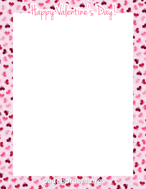 valentines day borders for microsoft word