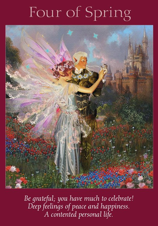 Oracle Card Four Of Spring Angel Tarot Cards Angel Tarot Angel Oracle Cards