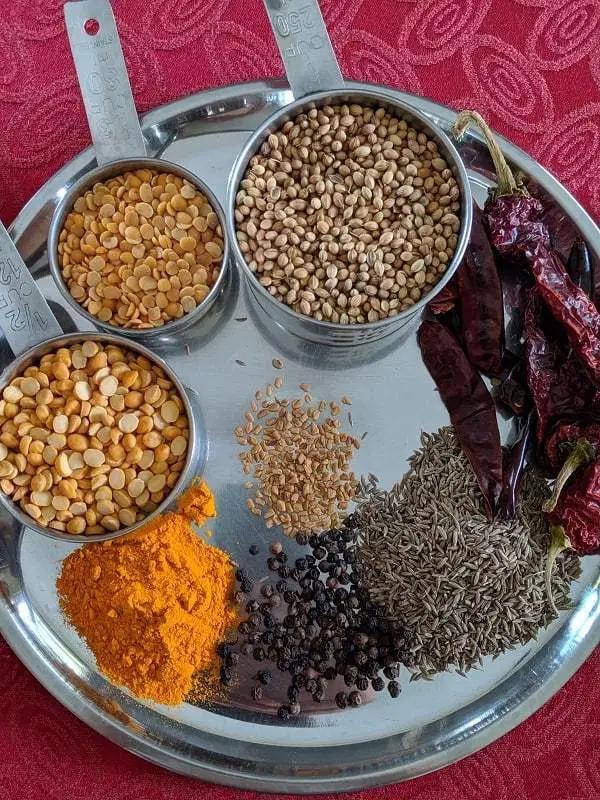 how to make south indian rasam powder