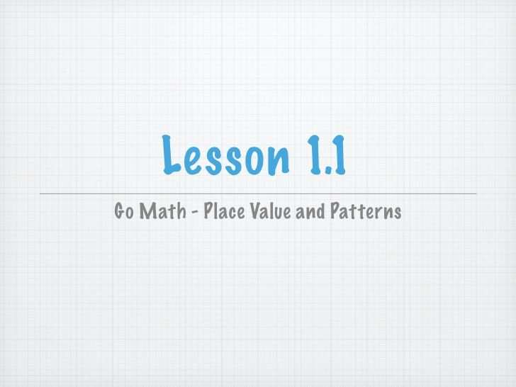 Lesson 11go math place value and patterns 5th grade lesson 11go math place value and patterns fandeluxe Choice Image