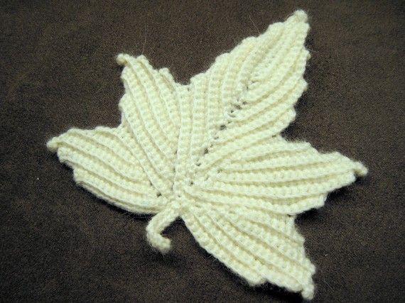 Crochet On Etsy Irish Lace Leaf Crochet Leaves Crochet And