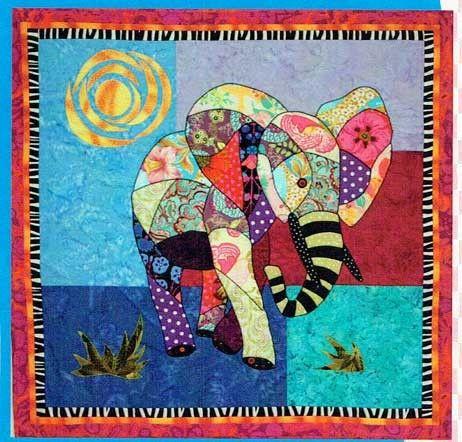 Ellie Elephant Quilt Pattern by B J Designs and Patterns at ... : elephant applique quilt pattern - Adamdwight.com