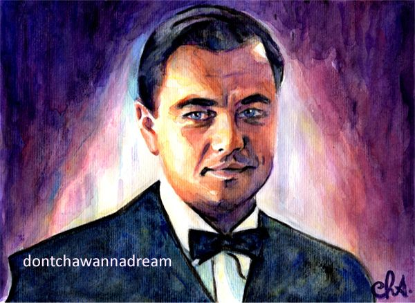The Great Gatsby – He was a son of God by dontchawannadream #painting #portrait #watercolorpencils #gouache #art #gatsby Leonardo DiCaprio