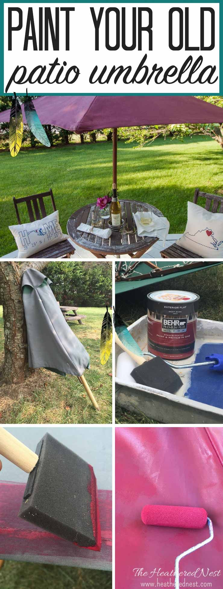NEVER Would Have Thought To Try This!! DIY Umbrella Painting DIY Painted  Patio