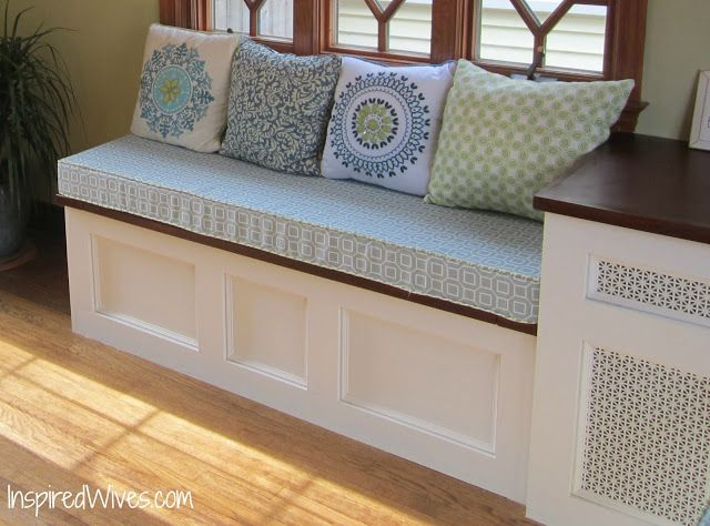Inspired Wives Diy Built In Bench For The Sunroom