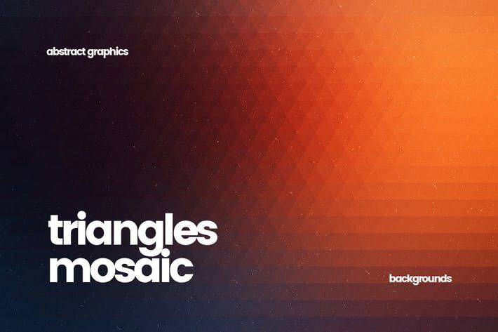 Noisy and Blurred Triangles Mosaic Backgrounds by themefire