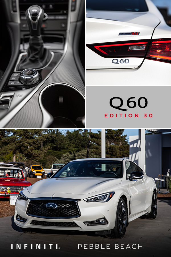 30 Years Of Performance 2020 Infiniti Q60 Edition 30 Infiniti Usa Infiniti Pebble Beach