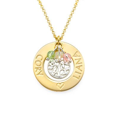18ct Gold Plated Tree of Life Necklace | MyNameNecklace