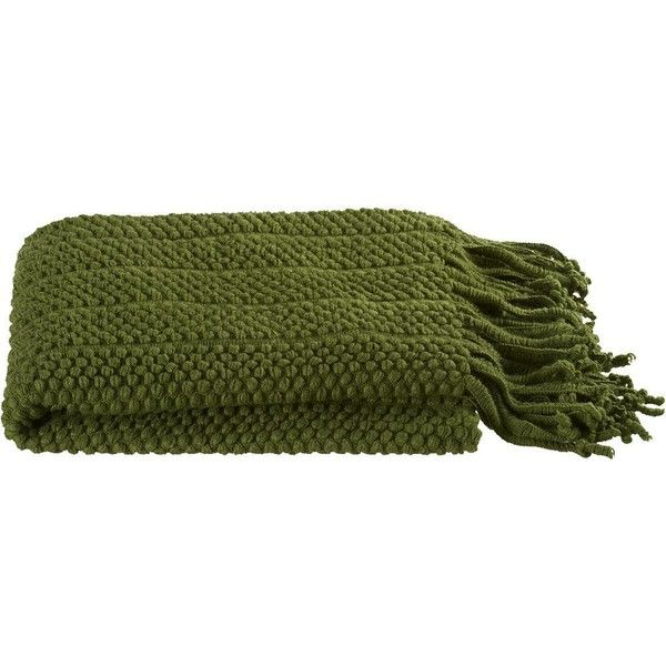 crate u0026 barrel marley green throw 165 mxn liked on polyvore featuring home