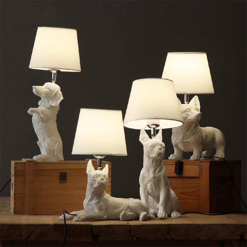Dog Table Lamps | White table lamp, Dog lamp, Table lamp