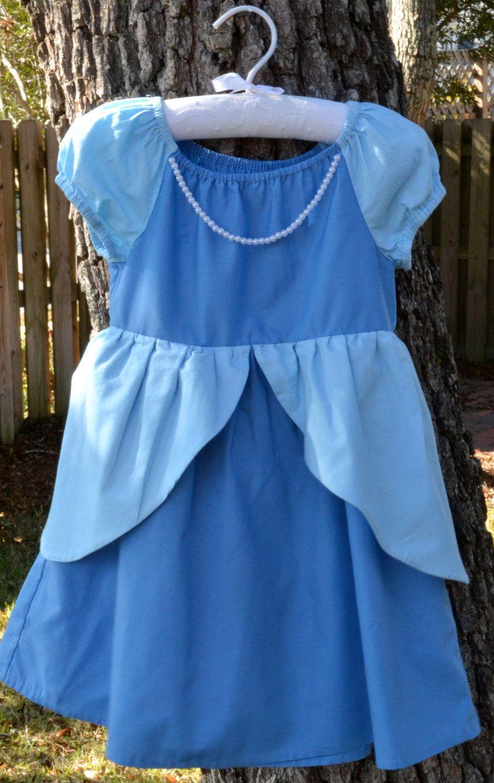 DIsney-Inspired Cinderella Dress. $40.00, via Etsy.  (Revamped)