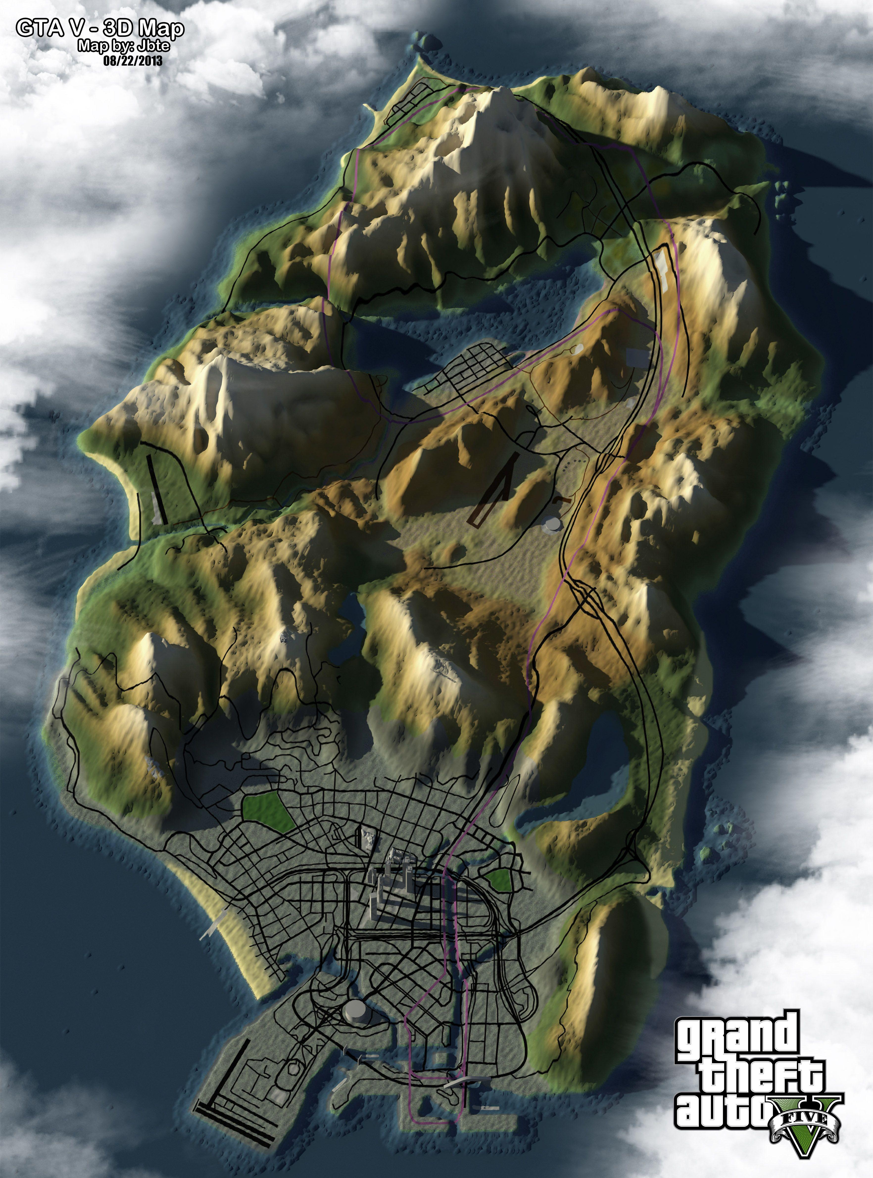 Topography of GTA V San Andreas | GTA | Gta, San,reas, Geek