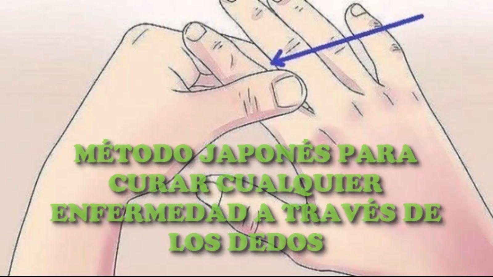 MÉTODO JAPONÉS PARA CURAR CUALQUIER ENFERMEDAD A TRAVÉS DE LOS DEDOS