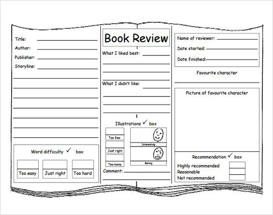 book review template for kids Betty Pinterest Book review - book review template